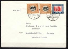 GIORDANIA - 1955 - BUSTA DA GERUSALEMME VERSO LA GERMANIA - JESURALEM - Giordania