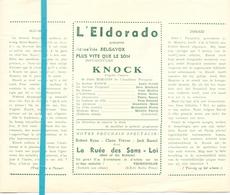 Ciné  Bioscoop Programma Cinema Eldorado Bruxelles - Knock - Louis Jouvet - Publicité Cinématographique