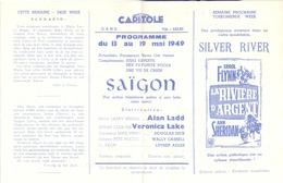Ciné  Bioscoop Programma Cinema Capitole - Savoy - Select - Gent - Saigon - Alan Ladd - Veronica Lake - 1949 - Publicité Cinématographique