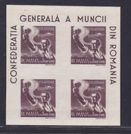 ROUMANIE BLOC N°   36A ** MNH, Neuf Sans Charnière, Petites Rousseurs, B/TB (CLR459)  1947 - Hojas Bloque