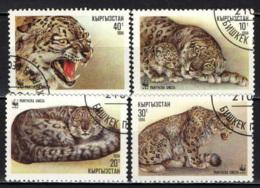 KIRGHIZSTAN - 1994 - WWF - ANIMALI SELVATICI: FELINI - USATI - Kirghizstan