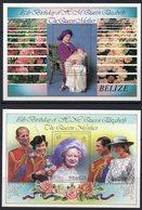 BELIZE Bf 057/58 Queen Elizabeth II Mum , Lady Di , Roses - Koniklijke Families