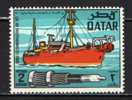 QATAR - 1971 - Cable Ship, And Section Of Submarine Cable. - MNH - Qatar
