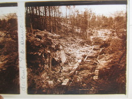 Plaque De Verre Stéréoscopique - Guerre 1914-18 - Devant Douaumont - Poilu - Casemate - TBE - Diapositiva Su Vetro