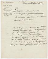"""Sélestat 1813 Lettre En Franchise L'Ingénieur Au Corps Impérial Des Ponts Et Chaussées """"Bassin Du Rhin"""" - Postmark Collection (Covers)"""