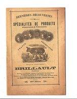 1928 TARIFS ET CONSEILS DE BRILLAULT INVENTEUR - PRODUITS ALIMENTAIRES ET VETERINAIRES à BEAUVOIR SUR NIORT (DEUX SEVRES - Publicités