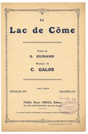 Le Lac De Come - Poesie De E Guinand - Musique De C.Galos - Music & Instruments