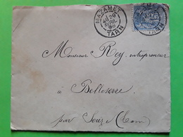 Lettre Locale De Famille, Instituteur De MAZAMET, Tarn,29 Avril 1898 S SAGE 15 C No 101 > Belleserre Par SOREZE - 1877-1920: Semi Modern Period