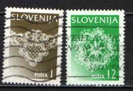 SLOVENIA - 1996 - MERLETTI E RICAMI DELLA SLOVENIA - ARTIGIANATO - USATI - Slovenia