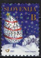 SLOVENIA - 2001 - AUGURI PER IL NUOVO ANNO - USATO - Slovenia