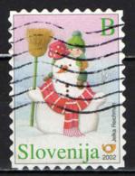 SLOVENIA - 2002 - PUPAZZO DI NEVE - USATO - Slovenia
