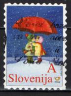 SLOVENIA - 2004 - BAMBINI SOTTO LA NEVE - USATO - Slovenia