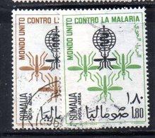 XP4314 - SOMALIA 1962 , Posta Aerea Serie Yvert N. 18/19  Usata .  Malaria - Somalia (1960-...)