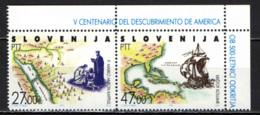 SLOVENIA - 1992 - 500° ANNIVERSARIO DELLA SCOPERTA DELL'AMERICA - MNH - Slovenia