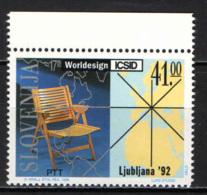 SLOVENIA - 1992 - CONFERENZA INTERNAZIONALE DI INTERIOR DESIGNERA A LJUBLJANA - MNH - Slovenia