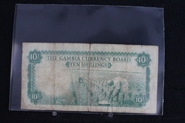 M-An / Billet  - The Gambia Currency Board - Ten Shilligs ( 10/- ) /  Année ? - Gambie