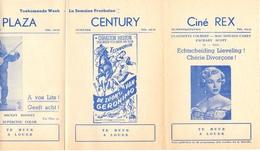 Ciné  Bioscoop Programma Cinema Majestic - Rex - Century - Savoy - Select - Gent - 27 Maart 1953 - Publicité Cinématographique