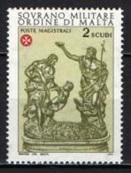 SMOM - 1976 - SAN GIOVANNI BATTISTA - BRONZO DI MELCHIORRE GAFA - MNH - Sovrano Militare Ordine Di Malta