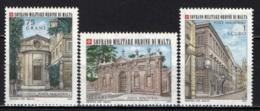 SMOM - 1976 - SEDI DI ROMA DEL SOVRANO MILITARE ORDINE DI MALTA - AVENTINO CHIESA E VILLA - VIA CONDOTTI - MNH - Sovrano Militare Ordine Di Malta