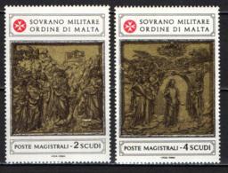 SMOM - 1980 - FORMELLE DEL BATTISTERO DI S. GIOVANNI BATTISTA A SIENA - 2^ SERIE - MNH - Sovrano Militare Ordine Di Malta