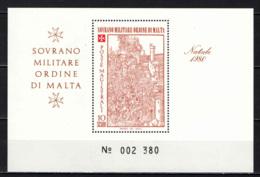 SMOM - 1980 - NATALE: ASSEDIO DI RODI - FOGLIETTO - SOUVENIR SHEET - MNH - Sovrano Militare Ordine Di Malta