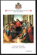 """SMOM - 2003 - ANNO DEL ROSARIO - DIPINTO """"COMUNIONE DEGLI APOSTOLI"""" DI LUCA SIGNORELLI - MNH - Sovrano Militare Ordine Di Malta"""
