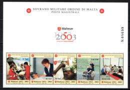 """SMOM - 2003 - CINQUANTENARIO DEL """"MALTESER HILFSDIENST"""" - CORPO DI SOCCORSO DELL'ASSOCIAZIONE TEDESCA MALTESER - MNH - Sovrano Militare Ordine Di Malta"""