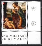 """SMOM - 2003 - NATALE - PARTICOLARE DELLA """"NATIVITA'"""" DI TOMMASO (CERCHIA DI LORENZO DI CREDI) - MNH - Sovrano Militare Ordine Di Malta"""