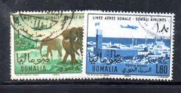 XP4317 - SOMALIA 1964 , Posta Aerea Serie Yvert N. 30/31  Usata . - Somalia (1960-...)