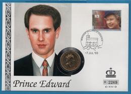NUMISBRIEF GB 2 POUNDS 1994 Bank Of England  PRINCE EDWARD NUMIS COVER - 1971-… : Monete Decimali
