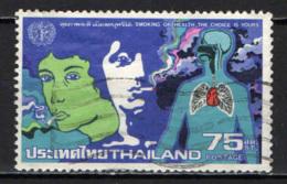 TAILANDIA - 1980 - LOTTA CONTRO IL FUMO - USATO - Tailandia