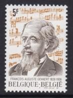 TIMBRE NEUF DE BELGIQUE - 150E ANNIVERSAIRE DE LA NAISSANCE DU COMPOSITEUR FRANCOIS-AUGUSTE GEVAERT N° Y&T 1956 - Musique