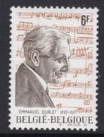 TIMBRE NEUF DE BELGIQUE - EMMANUEL DURLET, PIANISTE, PROFESSEUR AU CONSERVATOIRE N° Y&T 1957 - Musique