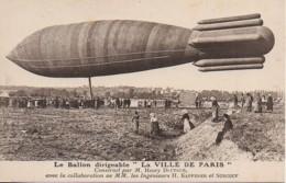 """Aviation Le Ballon Dirigeable """"La Ville De Paris"""" - Montgolfières"""