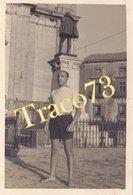 PIAZZA ARMERINA _ 1954 /  Attore In Piazza _ Foto Formato 6 X 10 Cm. - Luoghi