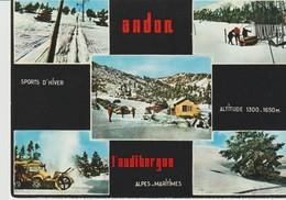 C.P.- PHOTO - ANDON - L'AUDIBERGUE - 5 VUES - 434 - PHOTOGUY - SPORTS D'HIVER - France