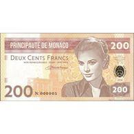 TWN - PRINCIPAUTÉ DE MONACO (private) - 200 Francs 2018 Very Very Low Serial N 000005 UNC - Billets