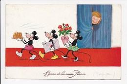 CPA DISNEY Mickey Minnie - Disney