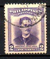 PHILIPPINES. N°400 Oblitéré De 1952. Garciano Lopez Jaena. - Philippines