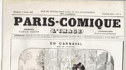 N°6 ( 3eme Année) PARIS COMIQUE En Carnaval Du 7 Fevrier 1969 - 1850 - 1899