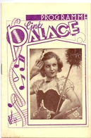 Ciné  Bioscoop Programma Programme Cinema - Ciné Palace Gent - 1932 - Lilian Harvey - Publicité Cinématographique