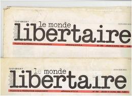 Le Monde Libertaire ( 2 N° Du 1 Et 8 Avril 1982) - Journaux - Quotidiens