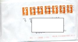 Lettre Flamme Chiffree Sous Code Roc Sur Briat Autocollant - Marcophilie (Lettres)