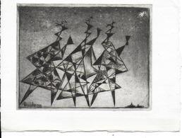 Art   Lithographie De BOULEAU (Charles ) ( Peintre Français) - Lithographies