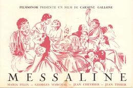 Pub Reclame - Filmsonor - Film De Carmine Gallone - Messaline - Maria Felix - Georges Marchal - Publicité Cinématographique