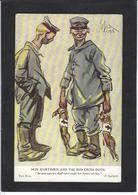 CPA Croix Rouge Red Cross Circulé Satirique Allemagne Germany Kaiser - Croix-Rouge