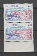 FRANCE / 1981 / Y&T PA N° 54 ** :  Salon Aéronautique (et Mirage 2000) X 2 En Paire Dont 1 BdF - Gomme D'origine Intacte - Airmail