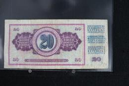 M-An / Billet  De 20 Dinar - Dest Dinara - Socialisticna Federativna Republika Jugoslavija  ( Yougoslavie ) / Année 1974 - Yougoslavie