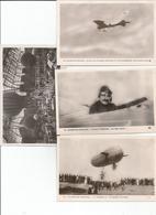 Lot De 4 Cartes Sur L'aviation Et Aviateurs - 5 - 99 Postkaarten