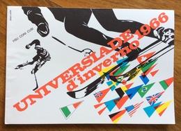 SPORT INVERNALI  UNIVERSIADI D'INVERNO  1966  Biglietto  Nuovo  DONAT-CATTIN - Francobolli